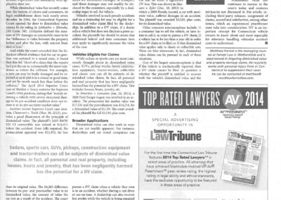 CT Law Tribune Diminished Value Article