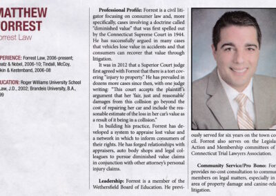 Matthew Forrest New Leader in the Law Profile